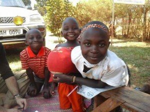 volunteer in African orphanage