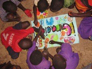 teach art in Uganda