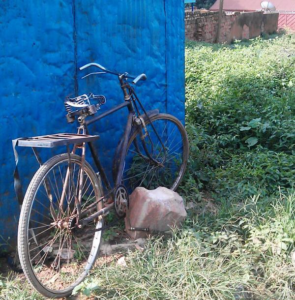 bicycle in rural Uganda