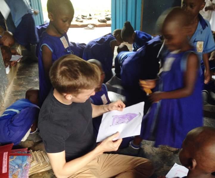 Ugandan kids need art classes too!
