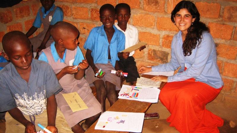 A classroom in rural Uganda