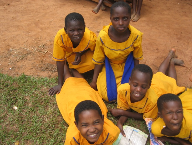 school kids in rural Uganda