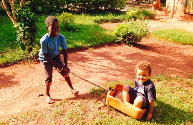 Home made toys in Uganda