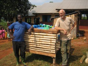 building plate stands in Uganda