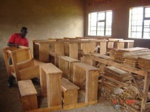 Making desks for school children in Africa