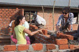 volunteer construction program in Uganda