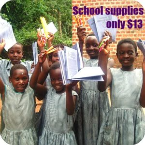donate school supplies for Ugandan school children