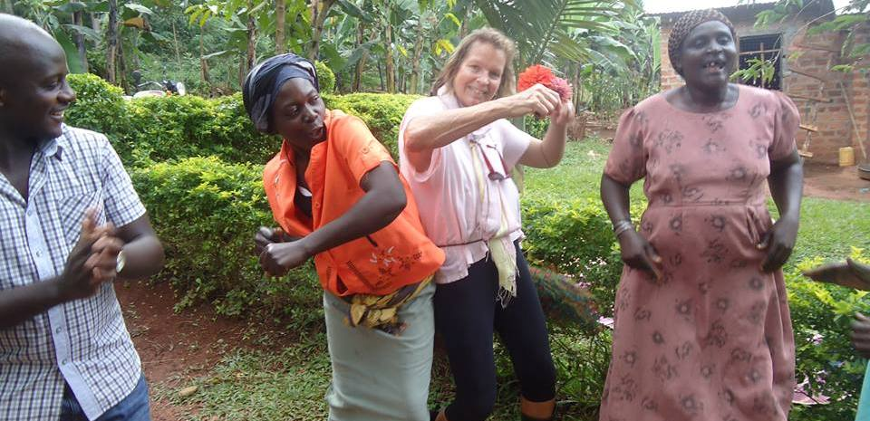 Its not just about work, volunteers dance and cook and share culture with real Ugandans