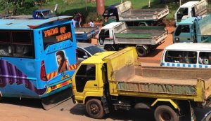 Traffic to and from Kampala is high in volume and easily gets backed up.