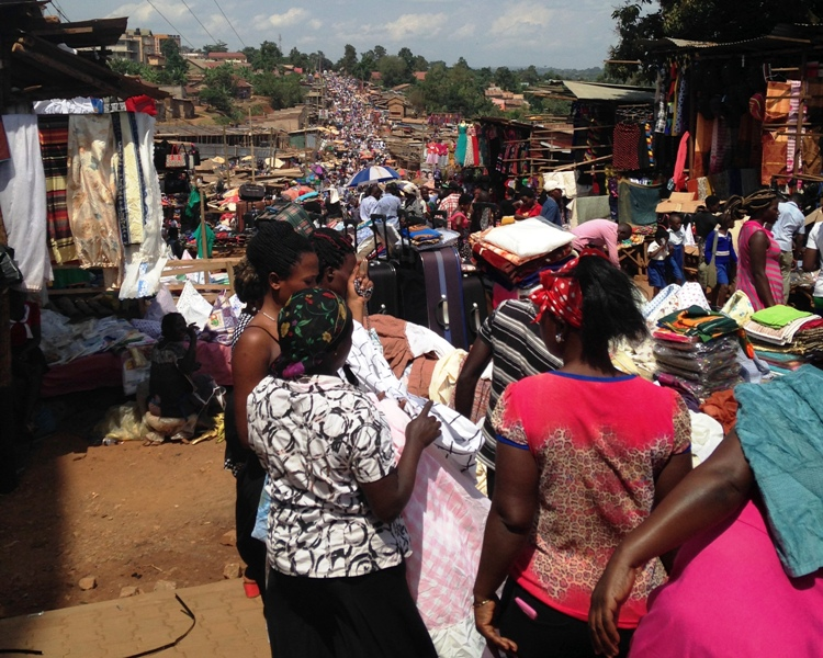Uganda has daily markets selling household goods, clothes and everything else you could ever want.