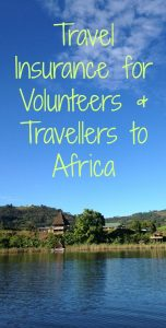 buy travel insurance for Africa volunteering and travel