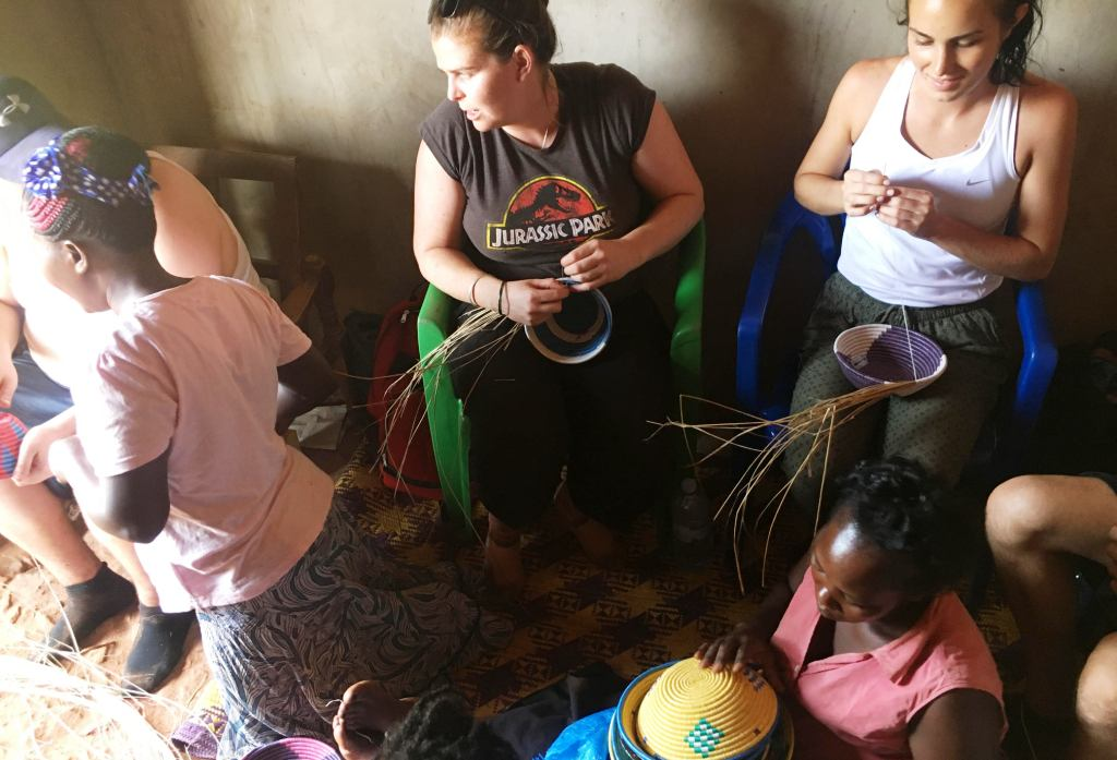 African basket making in Uganda