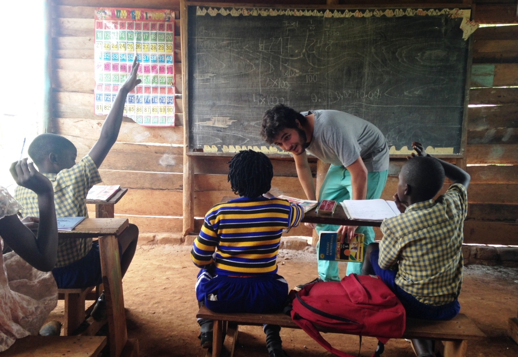 Primary school classroom in Uganda