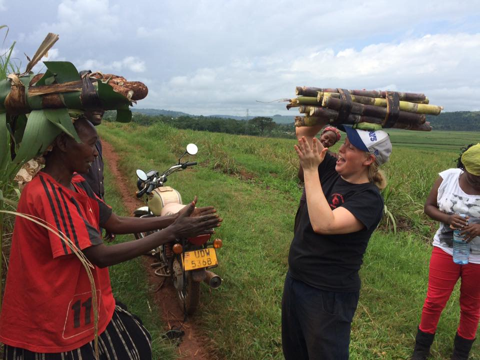 Volunteer in Uganda and carry sugarcane on your head!