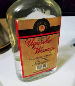 Local Ugandan gin. Ugandan Waragi.