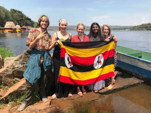 Volunteers in Uganda visiting the Source of the River Nile