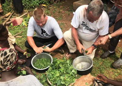 traditional cooking lesson in Uganda