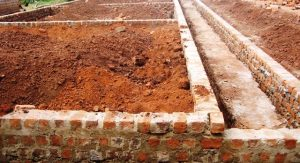 brick foundation construction in Uganda